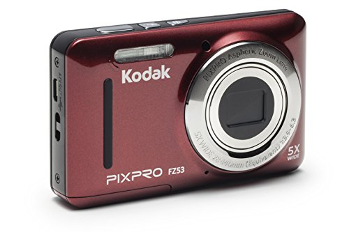 Kodak PIXPRO Friendly Zoom FZ53-RD 16MP Digital Camera with 5X Optical Zoom and 2.7 LCD Screen (Red)