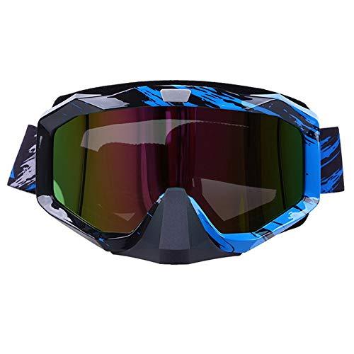 Gafas de Gafas de Motocross Gafas Plegables Casco de Motocicleta de Motocross Gafas de esquí/Skate Cafe Racer Sunglasse