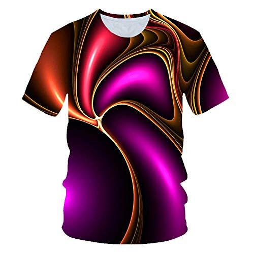 Heren T-Shirt 3D Rood Grafisch Gedrukt Korte Mouw Zomer Club Straat Tiener Casual Halve Mouw Tees Jeugd Vakantie Strand Hip hop Sport