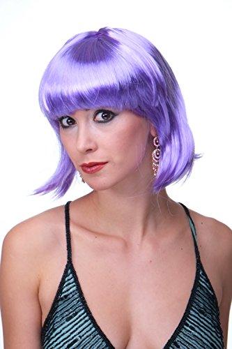 WIG ME UP - Perruque pourpre, carré plongeant sexy, style Disco, Go-go, idéal pour soirée PW0114-P08