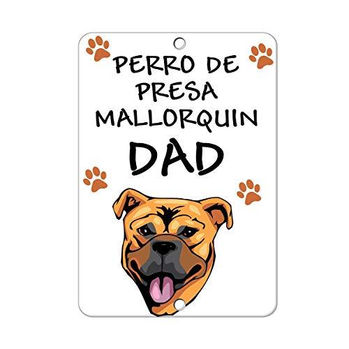 Perro De Presa Mallorquin - Pegatinas divertidas para el perro o el padre, autoadhesivas, advertencia de propiedad privada, calcomanía para la decoración de la habitación de los niños de 8 x 12 pulgadas