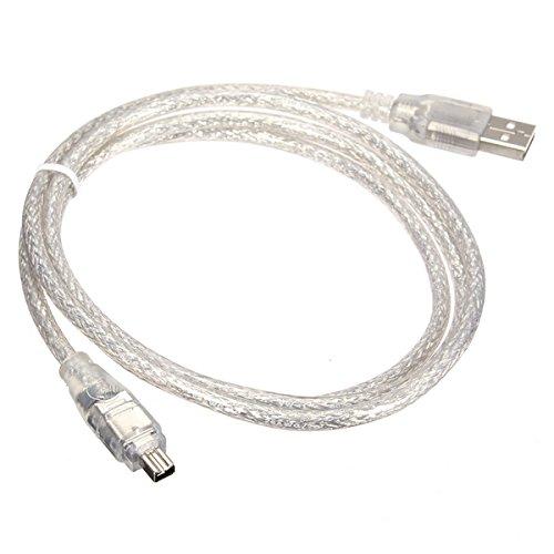 Cablecc iLink-Adapterkabel mit USB-Stecker auf 4-poligen Firewire-IEEE-1394-Stecker, für Sony DCR-TRV75E DV