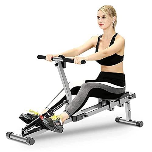 Máquina de Remo Ajustable con Pantalla LCD y 10 Niveles de Resistencia ajustabepara Fitness y Ejercicios de Musculación o Resistencia para Gimnasio Casa Carga 150KG