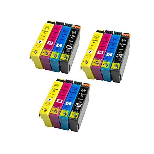 CMDZSW Compatible 29XL T2991 Cartuchos de Tinta para EPSON XP-255 XP-257 XP-352 XP-352 XP-355 XP-452 XP-455 XP 255257352355555452455 Impresora (Color : 3BK 3C 3M 3Y)