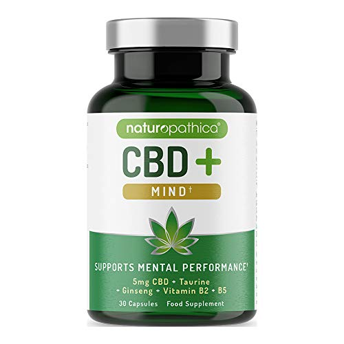 Naturopathica CBD+ Mind | Taurine | Ginseng | Vitamin B2 & B5 | 30 capsules
