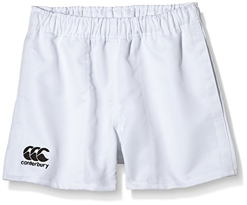 Canterbury Boy\'s Professional Polyester Shorts - White, Size 12