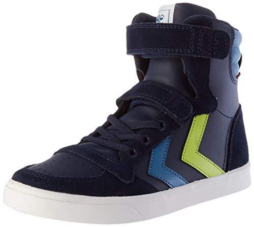 hummel Unisex-Kinder SLIMMER STADIL HIGH JR Sneaker, Black IRIS, 31 EU