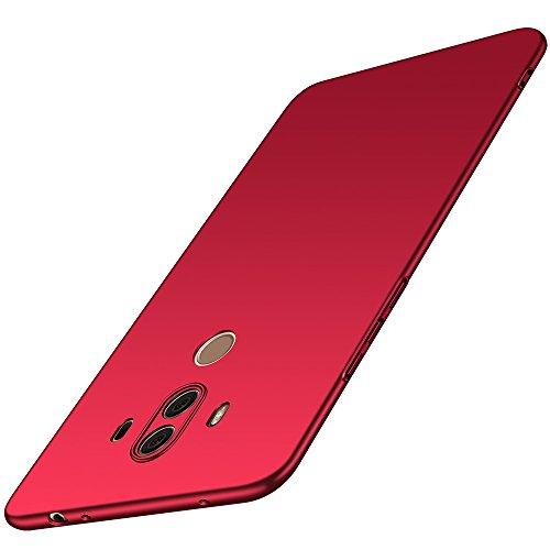 anccer Cover Huawei Mate 10 PRO [Serie Colorato] di Gomma Rigida Protezione da Cadute e Urti Huawei Mate 10 PRO (Rosso Liscio)