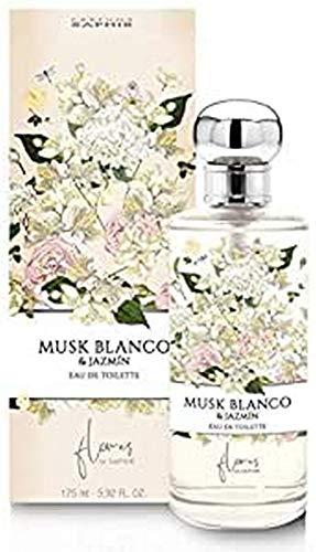 PARFUMS SAPHIR Agua fresca Musk Blanco y Jazmín - 175 ml