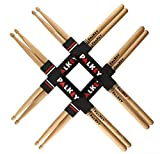 PalKey 5A Hickory Drum Sticks - 4 Pairs of Premium American Hickory Drumsticks, Drum Sticks for Professionals, Adults and Kids