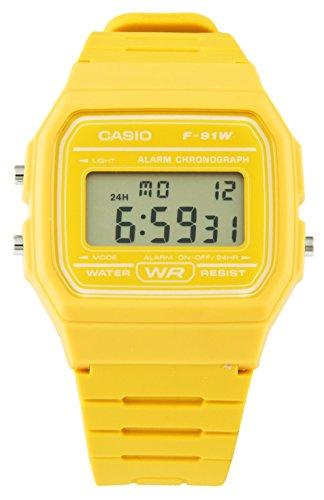Reloj Casio amarillo clásico F-91WC