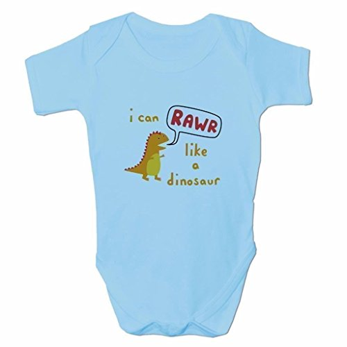 Funny Baby Grows Cute Baby Clothes for Baby Boy Body Vest I Can Rawr Like A Dinosaur