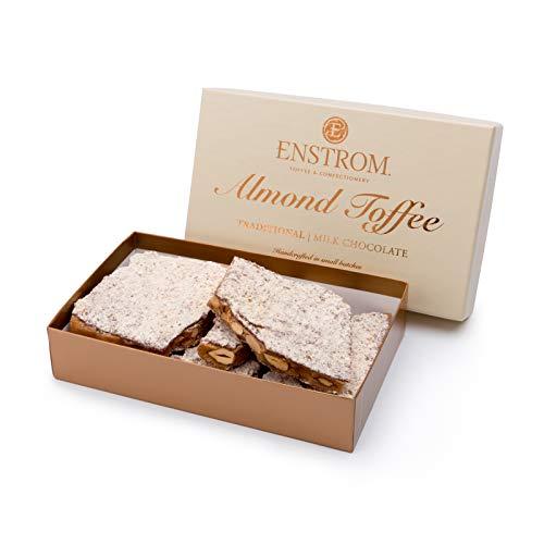 Enstrom Milk Chocolate Almond Toffee 1lb box | Handcrafted | Gluten Free | Kosher Dairy | All Natural