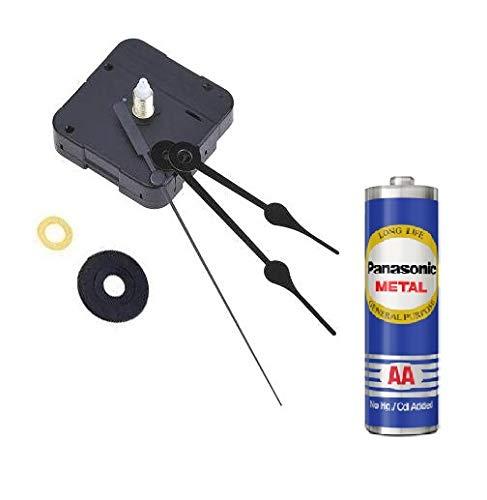 ERH India Plastic Quartz Wall Clock with Sweep Movement Machine DIY Kit with Needles, Black