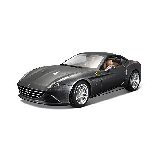Bburago 15616902 GY – 1 : 18 Ferrari Signature Series California T-Shirt Closed Top véhicule, Gris