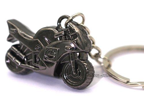 boost-key.com Mini Motorrad Metall Schlüsselanhänger von VmG-Store (Schwarz Chrom)