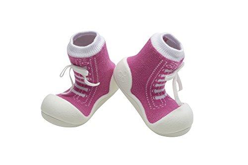 Attipas - ergonomische Lauflernschuhe Baumwolle Sneakers (20, Purple)