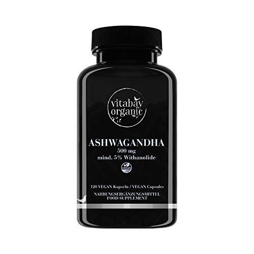 Ashwagandha 500 mg - essenza naturale KSM-66® - almeno il 5% conanolide - 120 capsule vegan