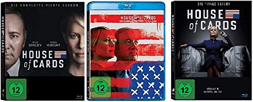 House of Cards Staffel 4-6 (4+5+6, 4 bis 6) [Blu-ray Set]