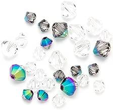 Swarovski - Create Your Style 47503379 Scarabaeus Bicone Swarovski Crystal Beads, Green 28 Piece