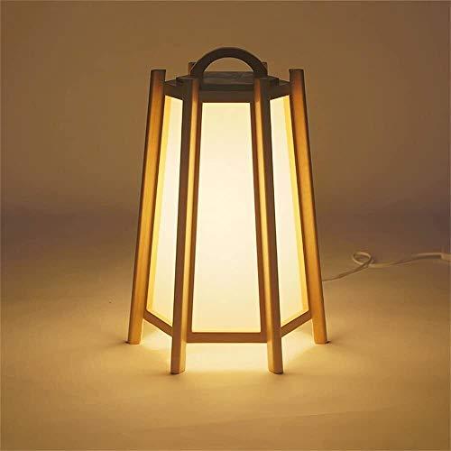 FHW Lámpara de mesa Simple Creativo Sólido Mesa de madera Lámpara de noche Lámpara de cama Sala de estar Estudio Dormitorio Dormitorio Decoración Decoración Pequeño Piso Lámpara Lámparas de escritorio