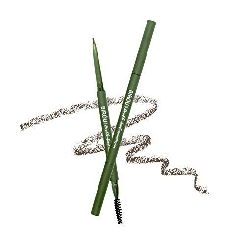Onlyoily Professional Makeup Lápiz de cejas adecuadas Micro Brow Pencil, Dos lados: cepillo espiral y lápiz de cejas automático, Fórmula vegana (1)