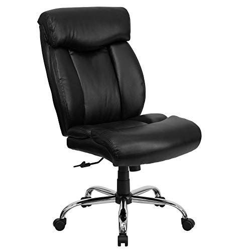 Flash Furniture HERCULES Series Big & Tall 400 lb. Rated Black LeatherSoft Executive Ergonomic Office Chair with Full Headrest