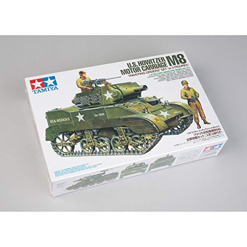 タミヤ 1/35 ミリタリーミニチュアシリーズ No.312 アメリカ陸軍 自走榴弾砲 M8 出撃待機セット 人形3体付 プラモデル 35312