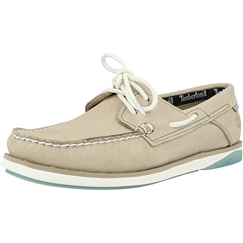 Timberland Atlantis Break Boat Shoe Grau (Light Taupe) Nubuk 44½ EU