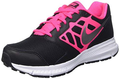 Nike Downshifter 6 (GS/PS), Scarpe da Corsa Ragazza, Blk/Mtllc Slvr-Hypr Pnk-White, 29.5 EU