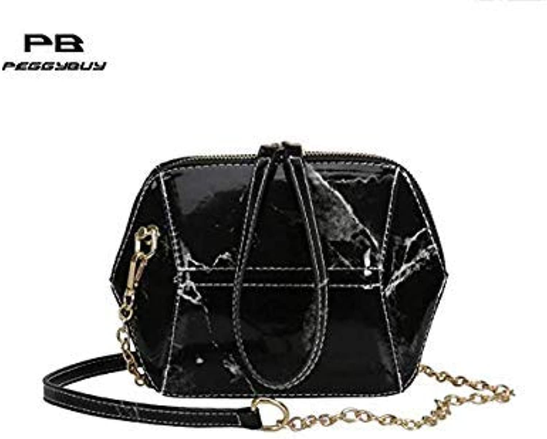 Bloomerang Fashion Women Messenger Bags Quality Patent Leather Women's Clutch Bag Female Shoulder Bag Chain Geometric Girl Crossbody Bags color 02