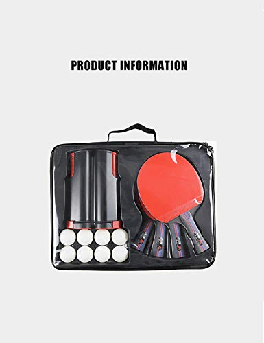 Amazing Deal Letuwj Ping Pong Paddle Set with Retractable Net,4 Paddles,8 Balls,and Portable Cover C...