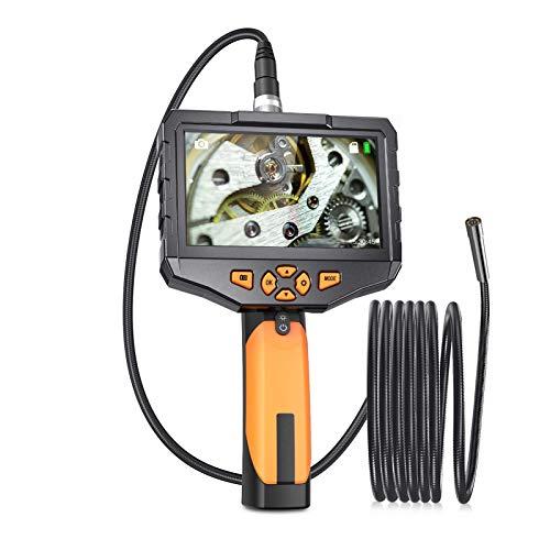 Endoscopio Industrial Con La Pantalla, Cámara De Inspección De Borroscopio De Mano 0,21 Pulgadas Con Sonda De Cuello De Ganso a Prueba De Agua, Pantalla Ips De 4.5 Pulgadas Para Automóviles