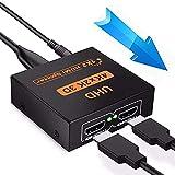 Gloryor 4K Splitter HDMI, 1 Ingresso 2 Uscite Alluminio Automatico Sdoppiatore, Duplicatore HDMI Attivo Supporta 4K 3D e 1080P, per Blu-Ray Lettore, HDTV, PS3/4, XBox, Digital STB, ecc.
