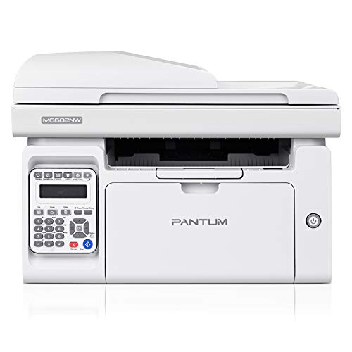 Fax Printer All in One with Scanner Copier, Wireless Black White Printer Print at 23PPM, Pantum M6602NW(V6B10A)