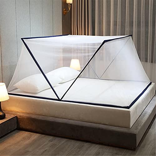 Faltbare Mückennetz Moskitonetz Pop Up Bett Tragbare Fliegennetz Zelt Reise Insektennetz für Schlafzimmer Outdoor Camping(Navy,L*W*H 190*160*80CM)