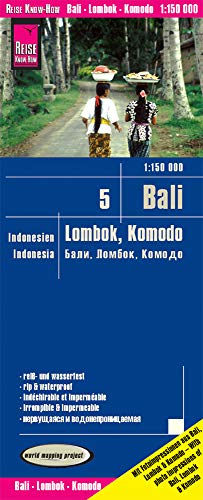 Bali, Lombok y Komodo, mapa de carreteras impermeable. Escala 1:150.000. Reise Know-How.: world mapping project