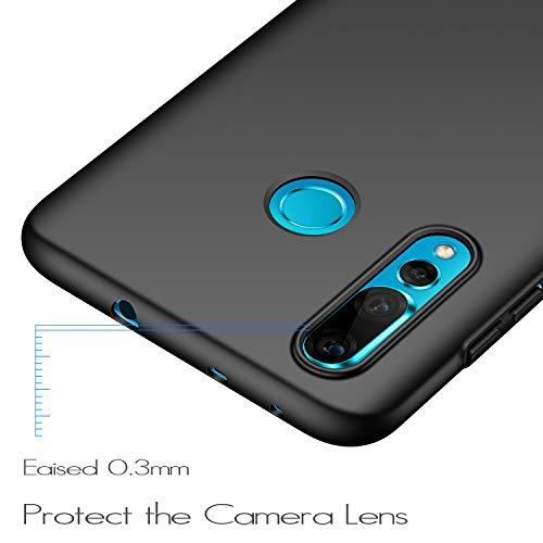 anccer Kompatibel mit Huawei Nova 4 Hülle, [Serie Matte] Elastische Schockabsorption und Ultra Thin Design (Glattes Schwarzes) - 4