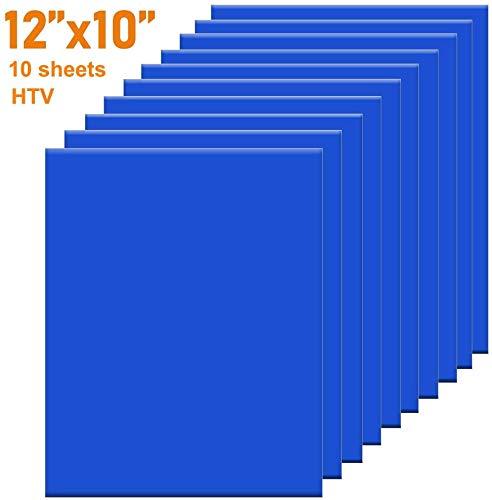 HTV Iron op Vinyl 30CM x300CM Roll door FANISY voor Silhouette en Cricut gemakkelijk te snijden & onkruid ijzer op warmteoverdracht Vinyl DIY Heat Press Design voor T-Shirts Zwart 30 * 25cm Blauw