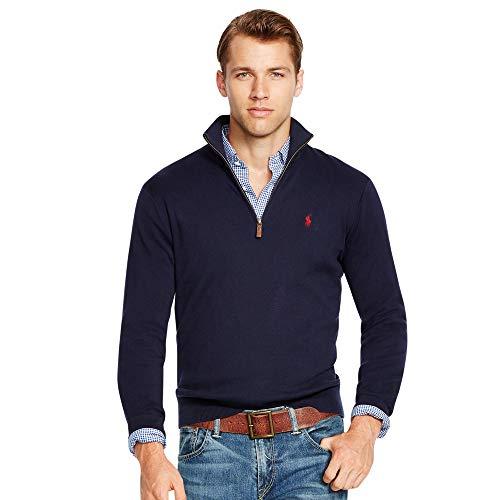 Ralph Lauren Herren Pullover Zipper (XXL, Marineblau)