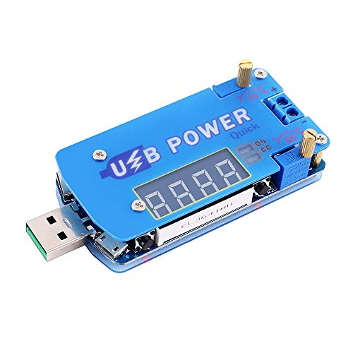 PEMENOL 15W DC-DC USB Step Up/Down Stromversorgungsmodul Mit Schnellladungs-Triggerfunktion und Digitale Röhrenanzeige Einstellbarer Konstante Spannung konstanter Strom Boost-Buck Konverter Modul