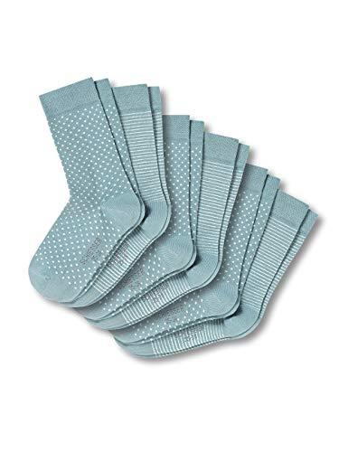 Schiesser Damen 6 Stück im Set Vorteilspack Strümpfe Socken, Grün (Mint 708), 35/38 (Herstellergröße: 400) (6er Pack)