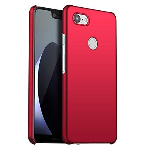 Funda compatible con Google Pixel 3, funda fina y mate, ultrafina, antiarañazos, resistente al polvo, carcasa para Google Pixel 3 rojo Gratis