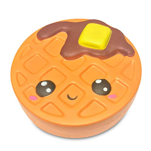Serenilite Slow Rising Scented Squishy Toy - Perfect Cute Squishies for Squeezing & Stress Relief - 1 Piece (Waffle)