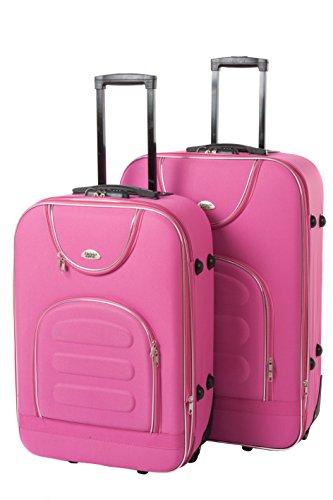 Softcase Softcase Kofferset New York 2-teilig Gr. L+XL, 67+76cm, 39+57Liter 7 verschiedene Farben (pink)