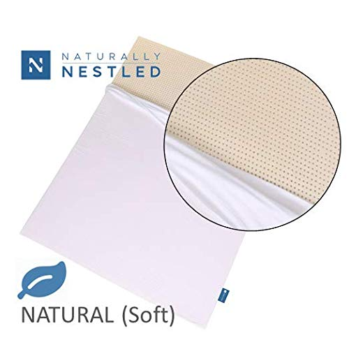 100% Natural Latex Mattress Topper - Soft Firmness - 3 Inch - Queen Size - Cotton Cover Included.