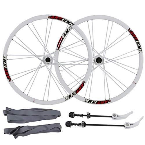 Juego de ruedas de bicicleta de montaña de 26 pulgadas, aleación de aluminio de doble pared, llanta de ciclismo, freno de disco, liberación rápida de 24 orificios, rueda de bicicleta de disco de 7 8 9