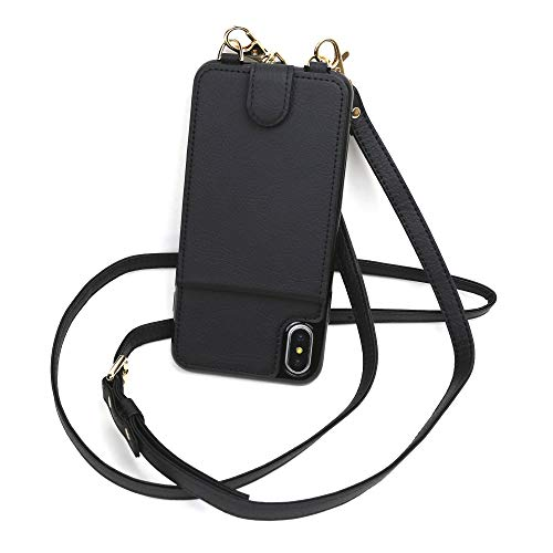Crossbody Phone Case Wallet Compatible iPhone SE (2020), RFID Protected Cross Body Phone Purse Bag with Adjustable Strap
