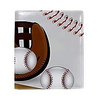 Carrozza ブックカバー 文庫 新書 野球柄 本カバー 16x22cm おしゃれ かわいい PUレザー 革