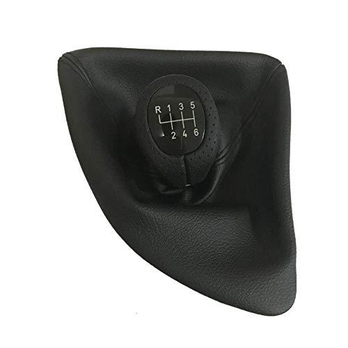 Manopola del cambio con guida a sinistra LHD 5 marce 6 marce Pomello del cambio con stivale in pelle adatto per Bmw Serie 1 X1 E81 E82 E87 E88 E90 E91 E92-E87_6 velocità